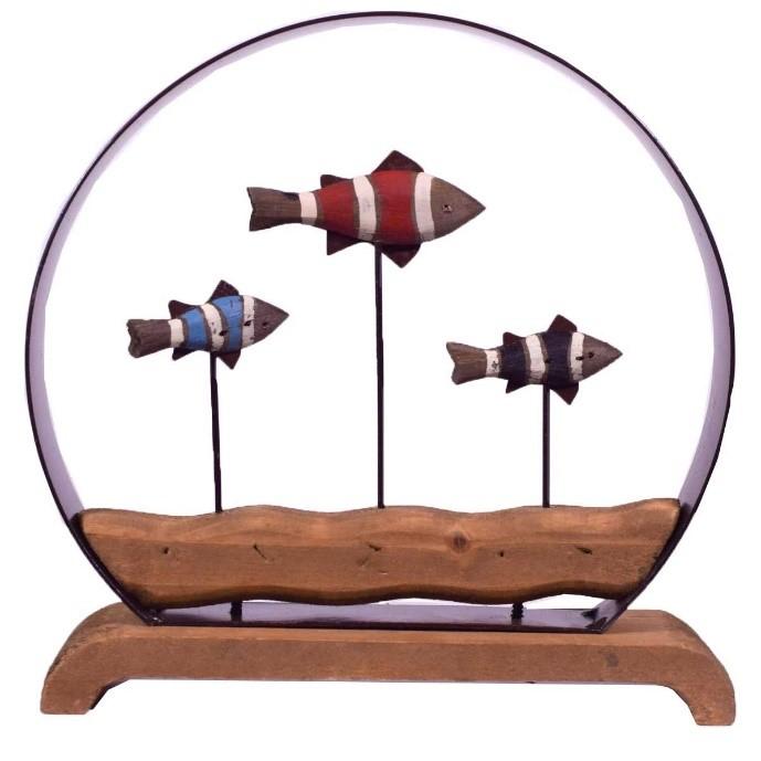 ξυλινο διακοσμητικο με ψαρακι