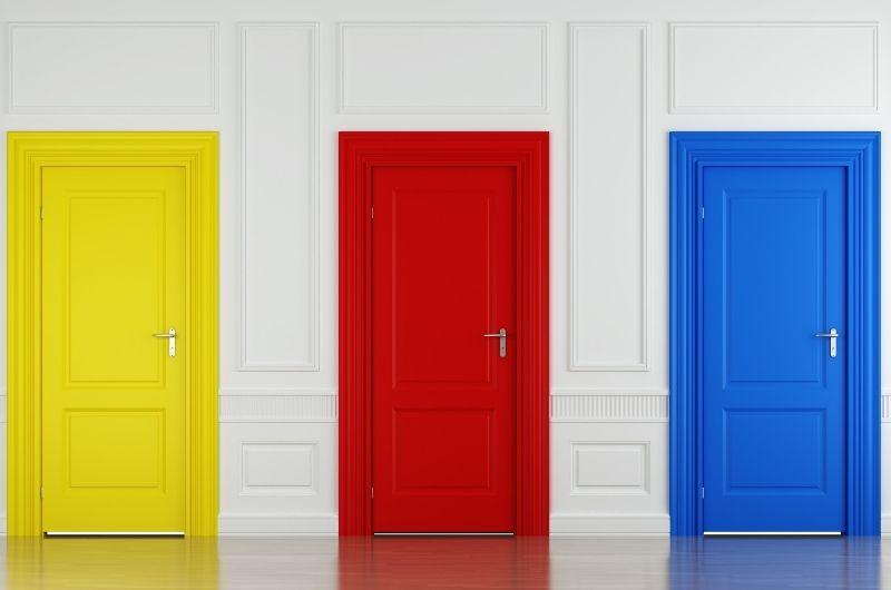 χρωματιστές πόρτες εσωτερικού χώρου